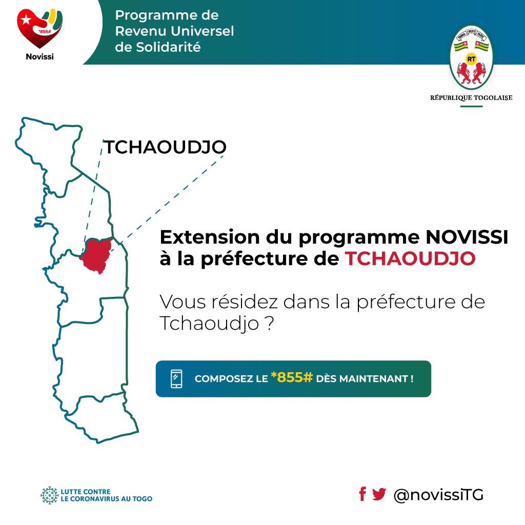Extension du programme NOVISSI à la préfecture de Tchaoudjo